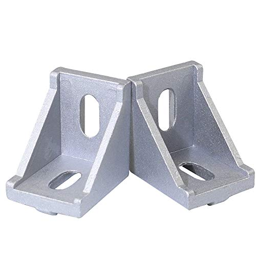 Boeray 6pcs 4040 Inside Corner Bracket Gusset for 4040 Series Aluminum Extrusion Profile with Slot 8mm