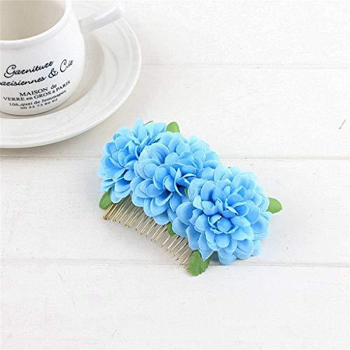 JYS 3 Flowers Hair Clip With Comb Bridal Flamenco Dancer Bridal Headdress Wedding Dress Show Hair Accessories Birthday Party Cosplay Tiaras ( fee)