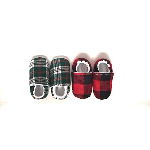Amazon.com: Plaid Baby Shoes, Green Baby Shoes, baby shoes unisex, Green Baby Booties,: Handmade