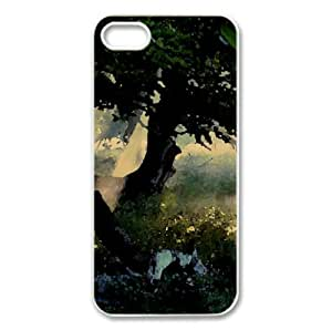 Sunlight Through Tree Watercolor style Cover iPhone 5 and 5S Case (Forests Watercolor style Cover iPhone 5 and 5S Case)