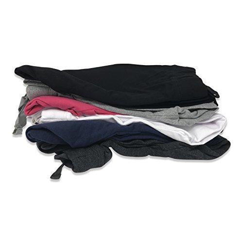 Sexy Basics Women's 2 Pack Yoga Activewear Jogger Capri Cropped Sweat Lounge Pants (2 Pack- Navy/Charcoal, Large) by Sexy Basics (Image #5)