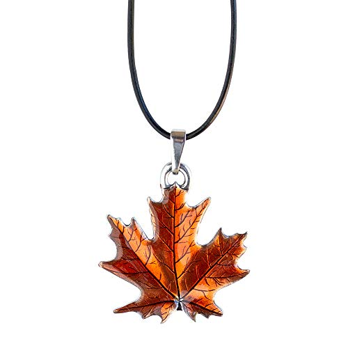 Danforth - Maple Leaf/Autumn Pewter Corded Necklace - 18