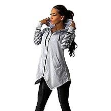 Fashion Story Women Hoodie Sweatshirts Sport Zip Up Pullover Coat
