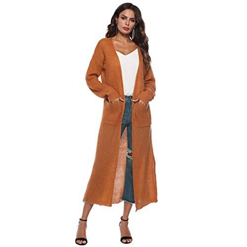 Autumn Long Sleeve Open Cape Casual Coat for Women Blouse Kimono Jacket Cardigan Coffee