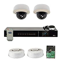 GW Security High End 4 Ch CCTV DVR HD-SDI 1920×1080 Security Camera System with 2 Highest Resolution 2.1 Megapixel 1080P Varifocal ZOOM Cameras and Pre-Installed 500GB Hard Drive