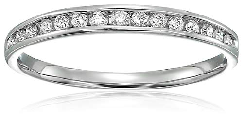 Vir Jewels 1/5 cttw Classic Diamond Wedding Band in 10K White Gold In Size 7