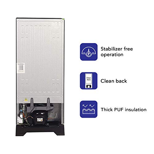 41J JD%2BJCvL Haier 195 L 3 Star Direct-Cool Single Door Refrigerator (HRD-1953CPMF-E, Marine Freesia)