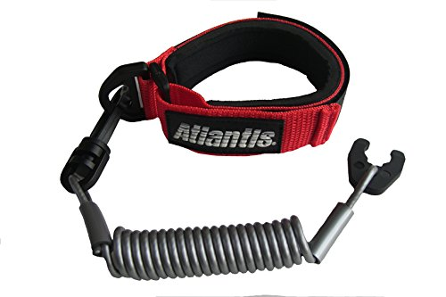 Atlantis A2412PF Floating Lanyard Pro RED/ SILVER Kawasaki Jetski Honda Polaris Wet Jet Tiger Shark (Lanyards Pro Floating)