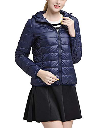 Marina Jacket Donna Di Da Cappotto Full Gladiolusa Incappucciati Packable Leggera Inverno Zip Rw0pq