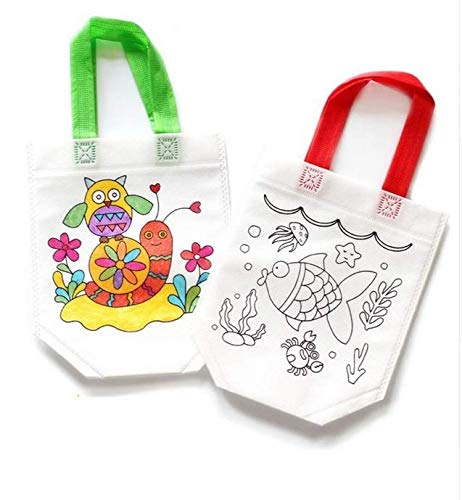 2 Unids. bolsas para colorear con rotuladores y adornas con ...