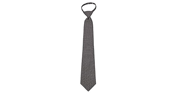 Umo Lorenzo Black /& White Mini Dot Boys Zipper Necktie