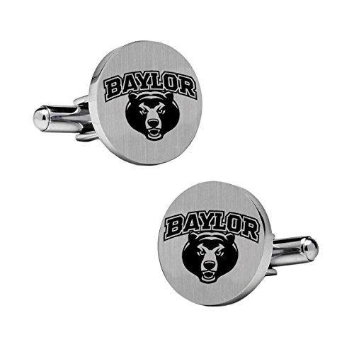 Baylor Bears Stainless Steel Round Cufflinks