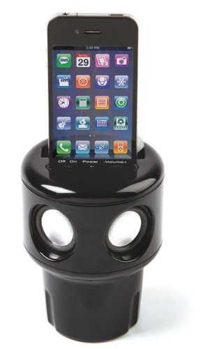 """AUTO TUNES"" CUP HOLDER SPEAKER THAT WORKS WITH ALL CELL PHONES!"