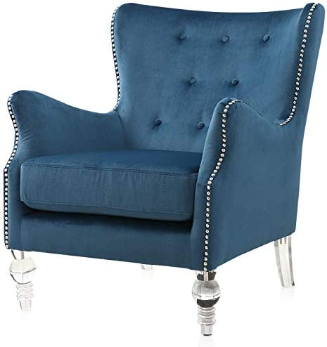 Meelano Accent Chair, Navy