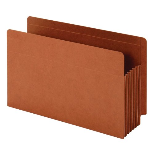 Heavy Duty Accordion Wallet - Globe-Weis/Pendaflex End Tab Heavy Duty File Pockets 5.25-Inch Expansion Tyvek Gussets Legal Size 10-Count, Brown (64790)
