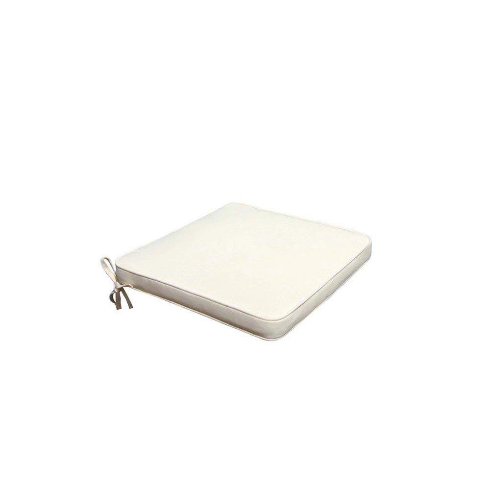 Cuscino seduta imbottito 39x39cm impermeabile sfoderabile esterno ecrù CU805668 Cosma
