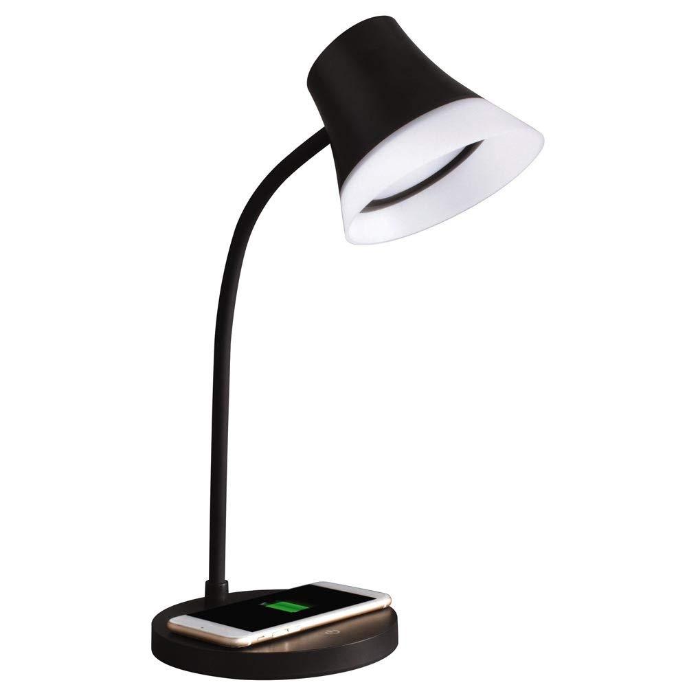 OttLite Shine LED Desk Lamp with Wireless Charging