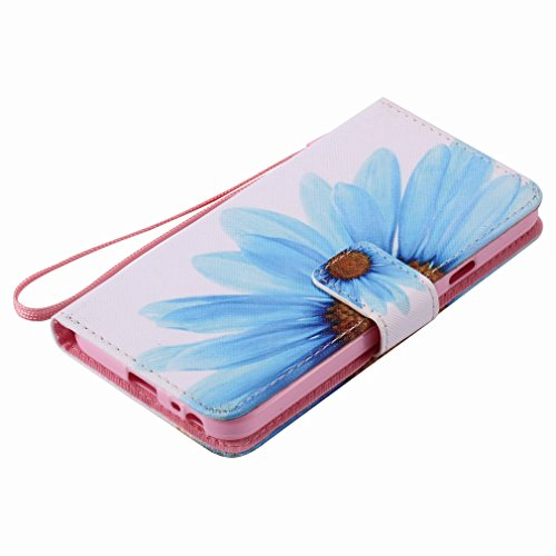 Yiizy LG Nexus 5X Funda, Pétalos Azules Diseño Solapa Flip Billetera Carcasa Tapa Estuches Premium PU Cuero Cover Cáscara Bumper Protector Slim Piel Shell Case Stand Ranura para Tarjetas Estilo