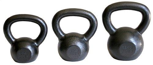 Ader Premier Kettlebell Set- (6, 8, 12kg) w/DVD by Ader Sporting Goods