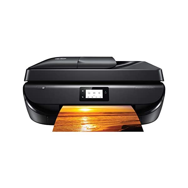 HP DeskJet 5275 All-in-One Ink Advantage WiFi Printer with FAX/ADF/Duplex Printing (Black) with Voice-Activated Printing (Works with Alexa and Google Assistant)