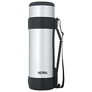 Thermos 61 Ounce Vacuum Insulated Beverage Bottle with Folding Handle, Stainless Steel
