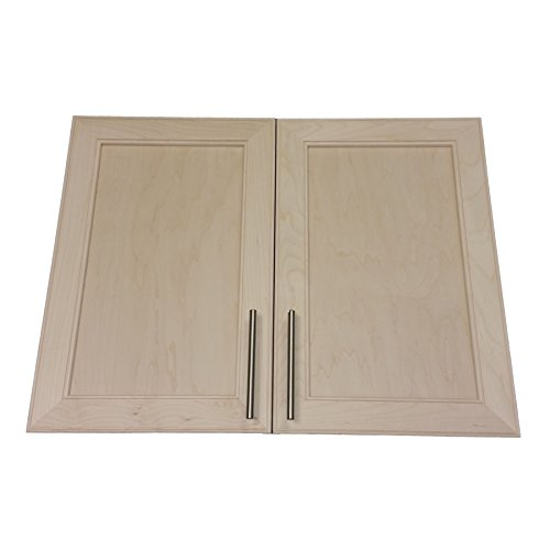 Wood Cabinets Direct MAX-BP-234DD Maxwell Recessed In The Wall Double Door Frameless Medicine Cabinet, 34″x3.5″