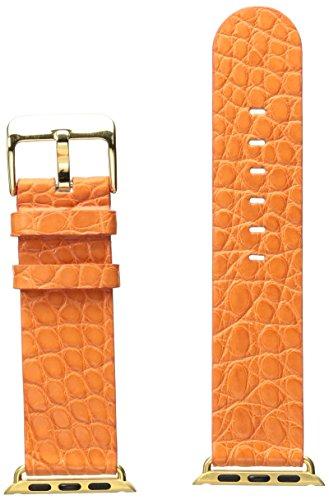 Strap Alligator Orange (Hadley Roma AP1000UAG38Y 38mm Apple Strap Alligator Mte Leather Alligator Orange Watch Strap)