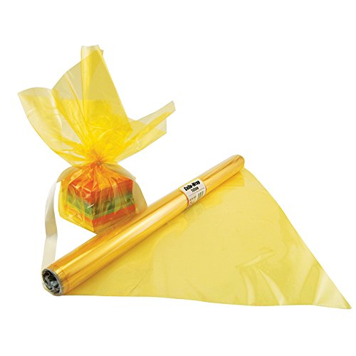 HYGLOSS PRODUCTS INC. CELLO WRAP ROLL YELLOW (Set of 24)