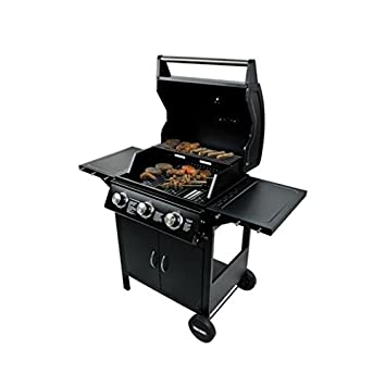 Flame Master Bbq.Professional Chef 3 Burner Portable Gas Barbecue Bbq Grill For