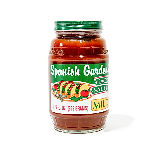 (Spanish Gardens Taco Sauce - A Taco Night Must-Have! Mild Taco Sauce for Authentic Mexican Food & Tex Mex Cravings - Original Family Recipe, Smooth Taco Sauce, Flavorful Mild Sauce (11.5 oz) - 6 Pack)
