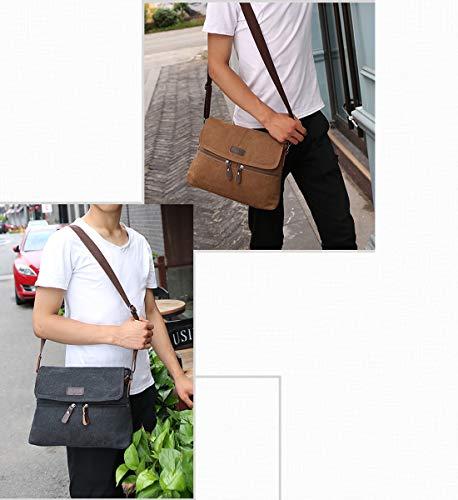 1e630e510ba Degohome Canvas Satchel Bag Shoulder Bag Crossbody Sling Bag for Men and  Women (black)