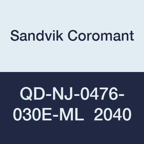 QD-NJ-0476-030E-ML 2040 Sandvik Coromant C,N Ti CoroMill QD Insert for Grooving +Al2O3+TiN Carbide Neutral Cut 2040 Grade