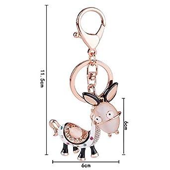 Amazon.com: Pequeño burro llavero Lady bolsa adornos ...