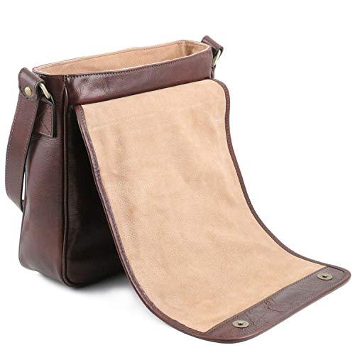 Bolso 3 bandolera Messenger piel 1 Tuscany compartimento con Leather en Miel Miel TL141260 TL Tgq6pWnSwt