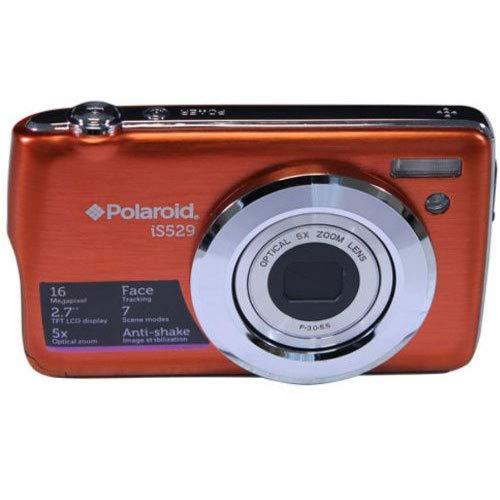 Polaroid IS529-ORG/KIT-AMX 16 Digital Camera with 2.7-Inch LCD (Orange)