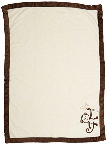 (NoJo Dreamy Nights Appliqued Coral Fleece Baby Blanket)