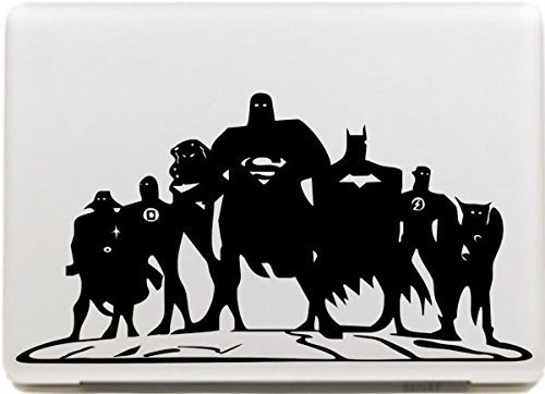 Vati Leaves Removable Dc Comics Justice League Protective Full Cover Vinyl Art Skin Decal Sticker Cover for Apple MacBook 13