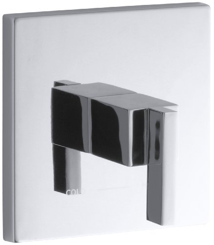 KOHLER K-T14672-4-CP Loure Thermostatic Valve Trim, Polished Chrome by Kohler