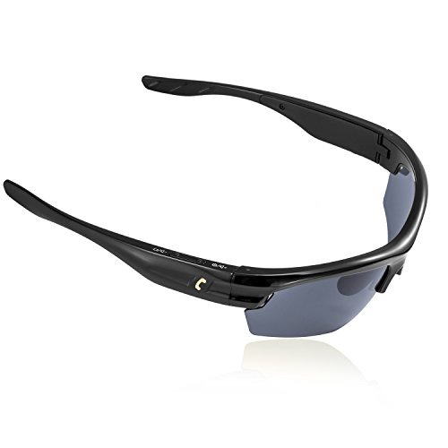 AUGIN Sports Bluetooth Sunglasses with Polarized Lens Smart Touch Wireless Stereo MP3 Music Hand-free Headset Headphones for Men Women Cycling Riding - Bluetooth Sunglasses