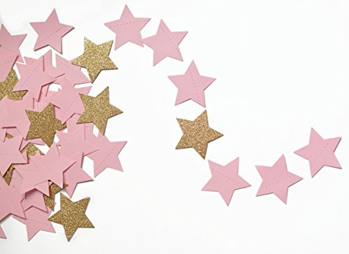 Twinkle, Twinkle Baby Pink and Gold Glittery Shimmering Star (Pink Shimmering Stars)