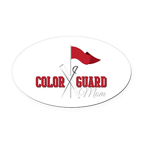 CafePress - Color Guard Mom - Oval Car Magnet, Euro Oval Magnetic Bumper Sticker ()