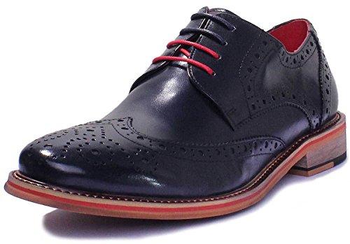 À Lacets Marine Dover Bleu Reece Homme Ville Chaussures De Justin Pour qH6wpSq