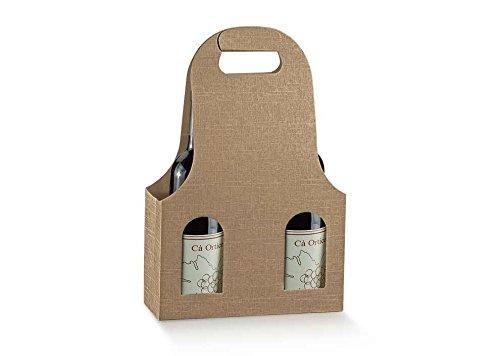 Subito disponibile 5 PEZZI Scatola bag per 3 bottiglie di vino color sacco
