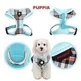 "Puppia Dog Soft Harness ""Classic"" Medium Blue, My Pet Supplies"