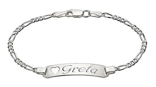 Buy sterling silver id bracelet personalized