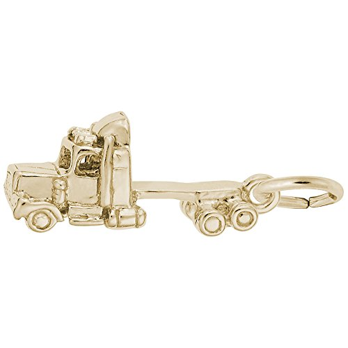 Gold Plated Truck Cab Charm, Charms for Bracelets and - Truck Gold Plated Charm