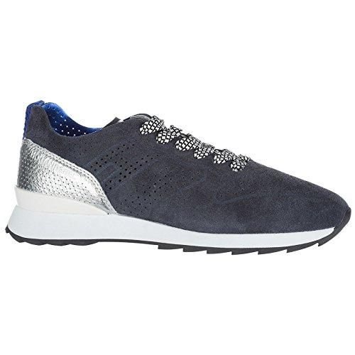camoscio Scarpe Donna Sneakers Rebel Nuove Blu Hogan r261 gRaIt