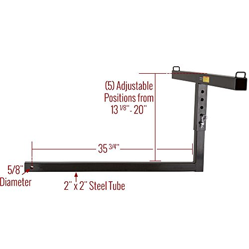 Apex Rage Powersports TBE-48 Truck Bed Extender (36' Pickup for 2' Class III/IV Receivers) by Apex (Image #5)