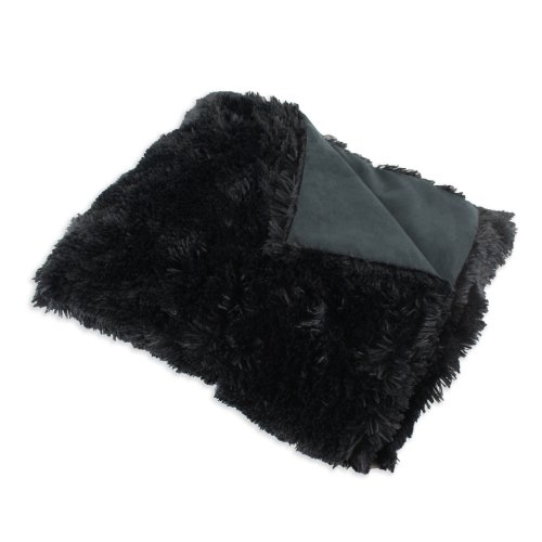 Chooty Blanket Throw (Brite Ideas Living Shaggy Suede Blanket, 26 by 40-Inch, Black-Passion)