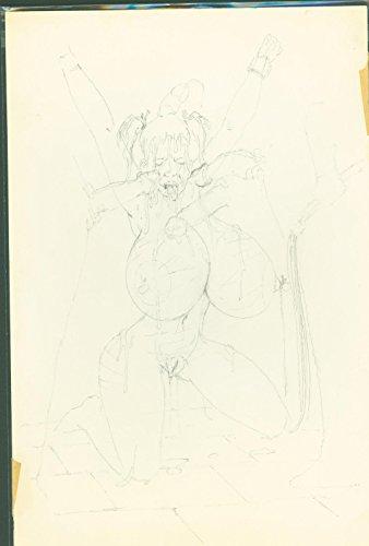 Tom Sutton (as Dementia) Bondage Torture Pencil Sketch Original Art #4 11 by 14